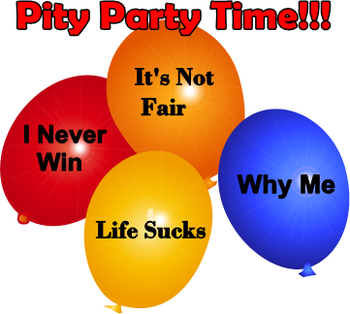 Pity party clipart.