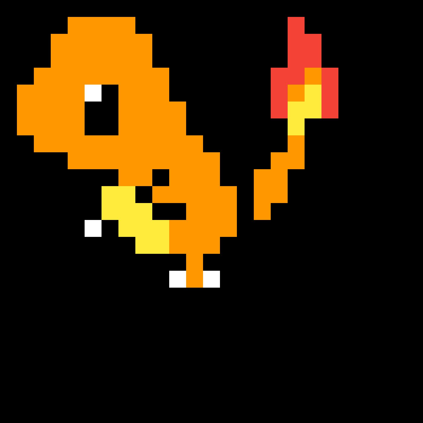 Pikachu Charmander Pixel art GIF.