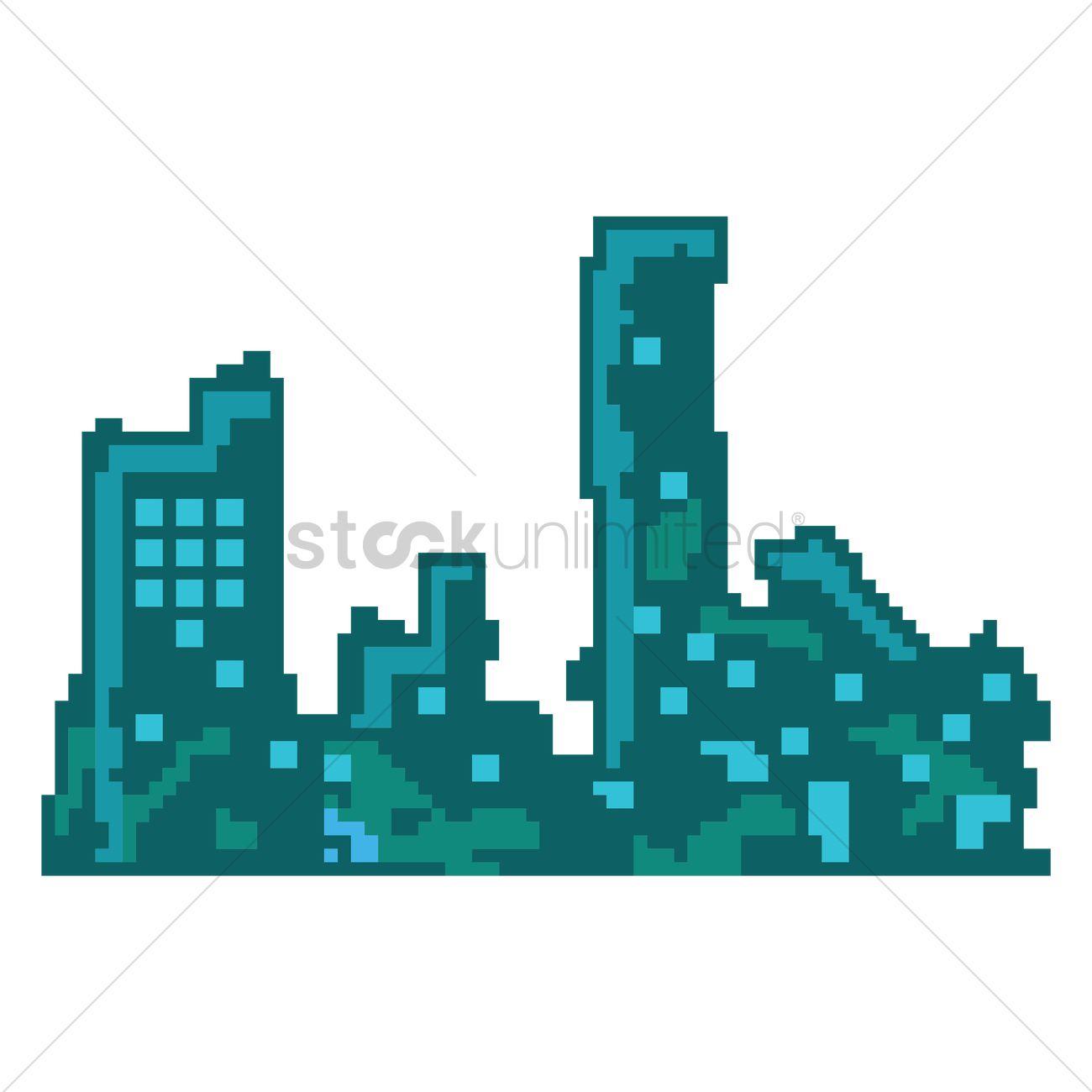 Pixel Art Landscape Clipart