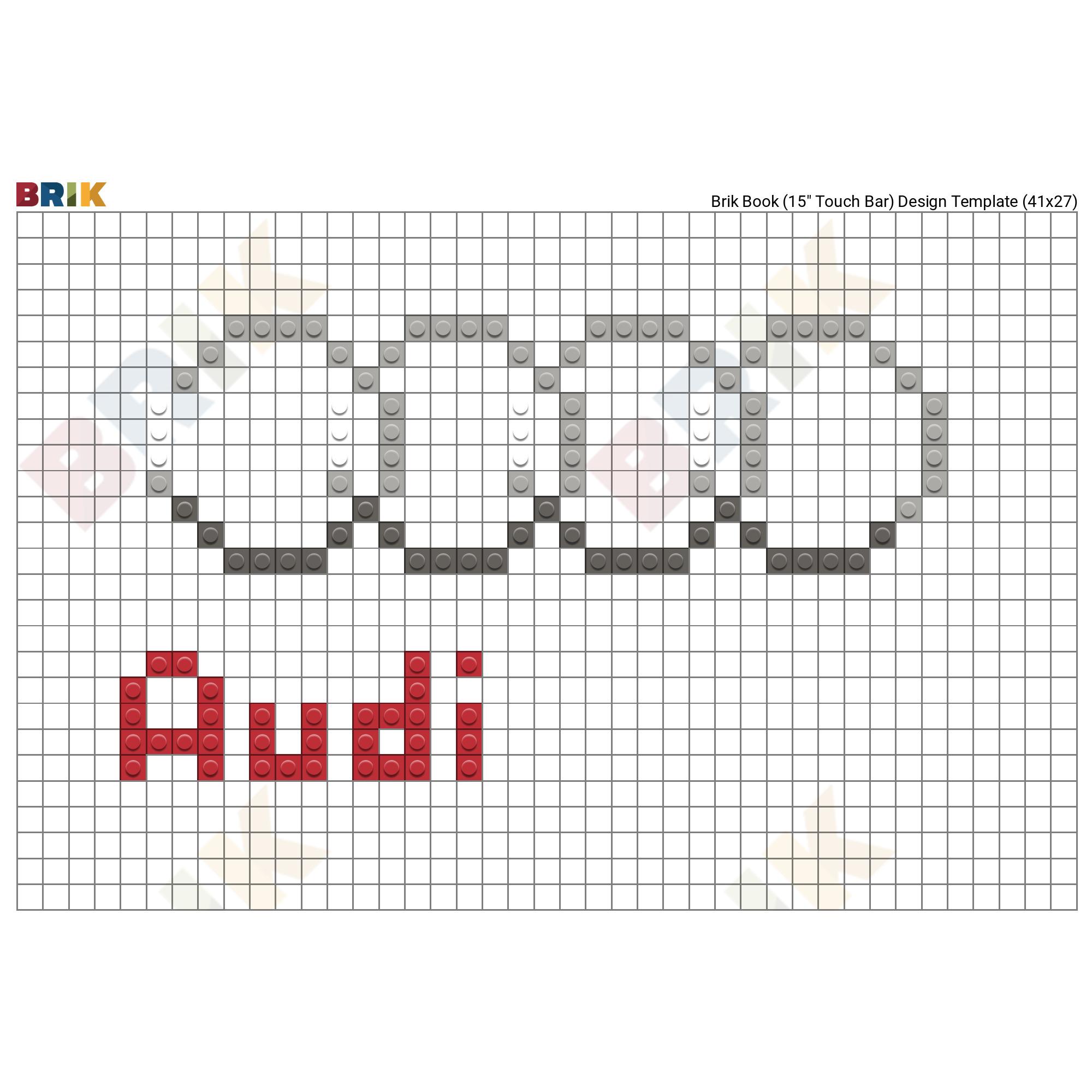 Audi Logo Pixel Art.
