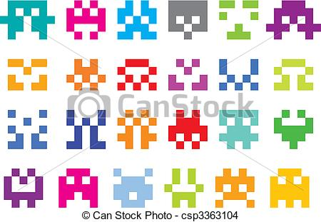 Pixel Illustrations and Clip Art. 50,912 Pixel royalty free.