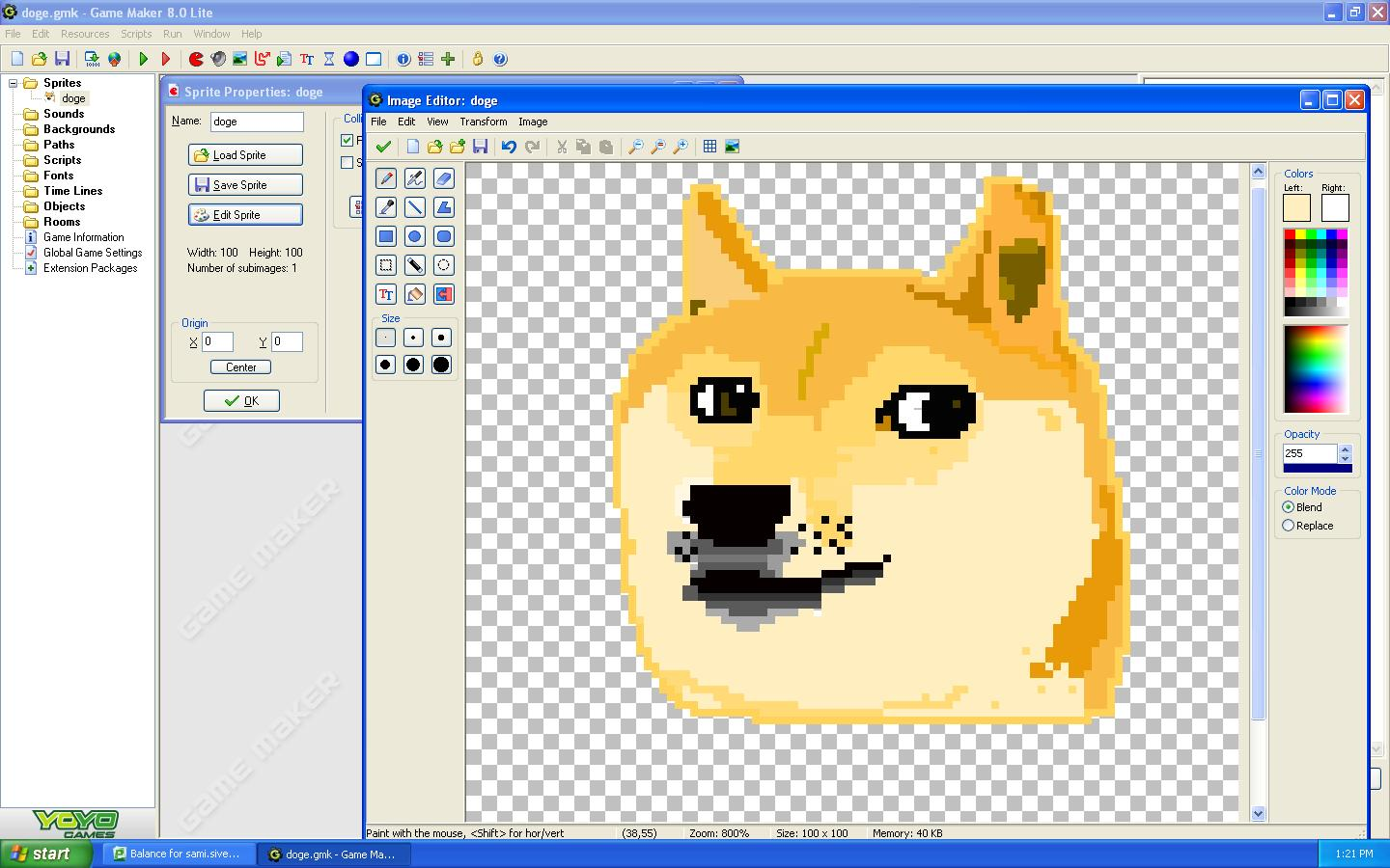 wow. so game maker. much pixel. very doge.