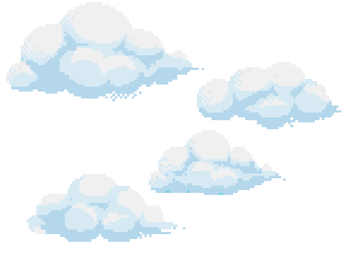 clouds, transparent and pixel image on We Heart It.