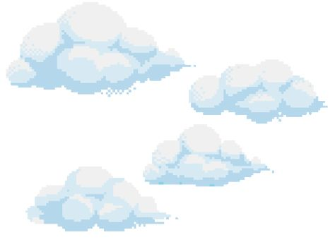 clouds, transparent and pixel image on We Heart It in 2019.