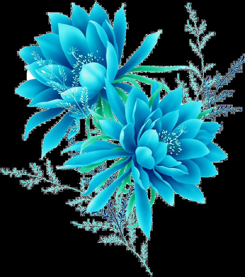 Blue Flower Pixel.