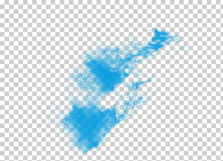 Explosion Software Pixel Powder, The effect of water, blue.