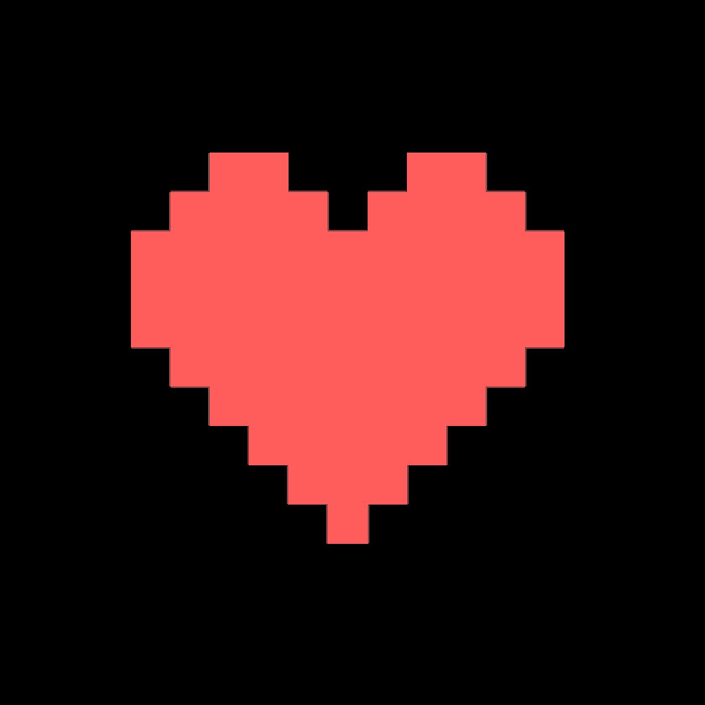 Pixel heart png Free Download.