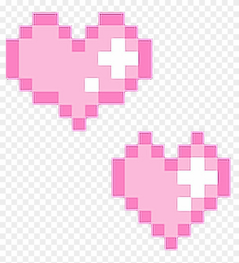 Hearts Pink Pixel Pixels Tumblr Cute Lovely Love.