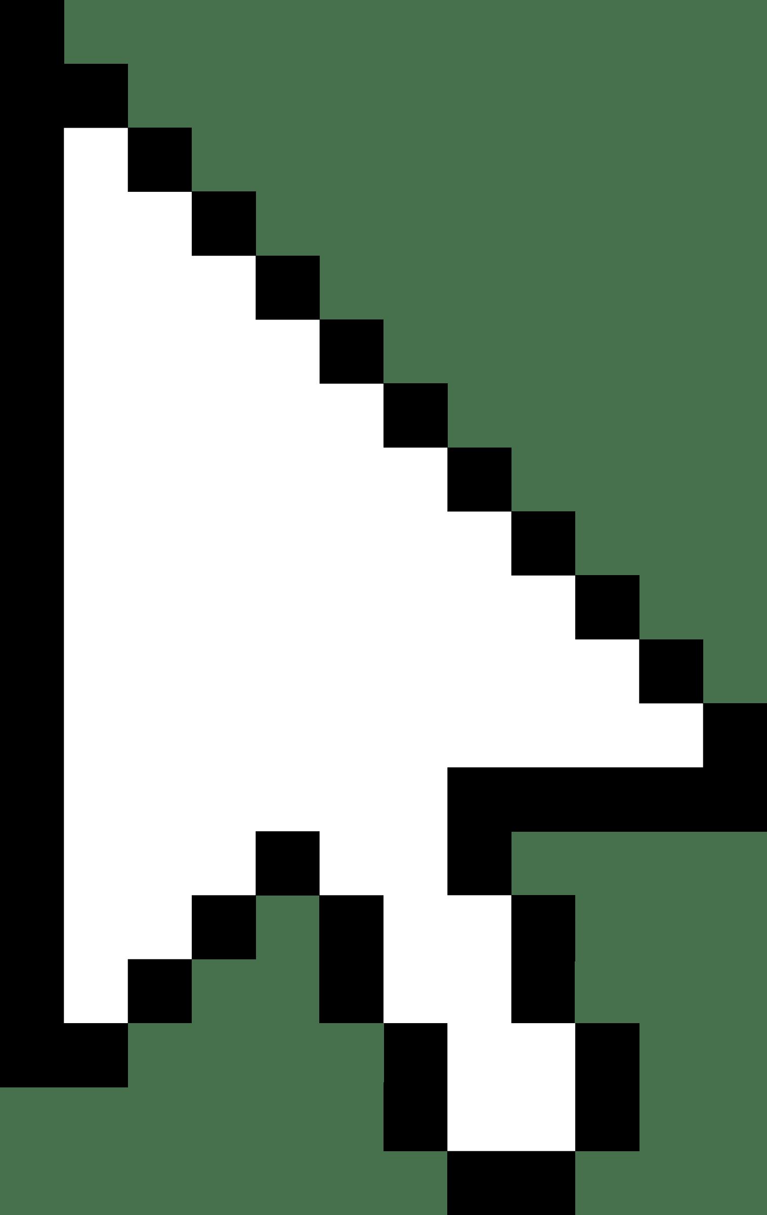 Pixel Cursor Arrow transparent PNG.