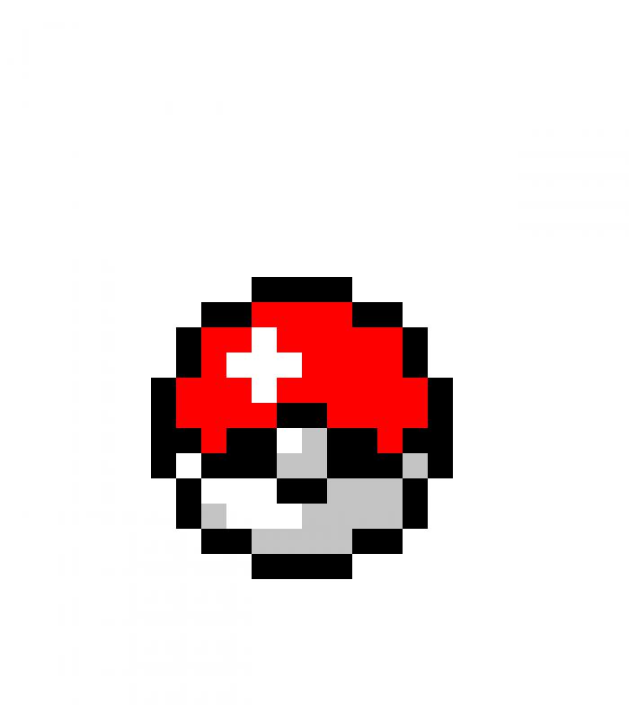 Pokeball Pixel Png Vector, Clipart, PSD.