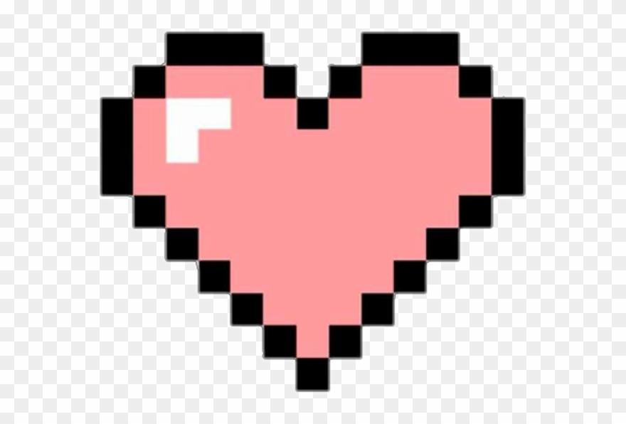 Pixel Clipart Pixel Heart.