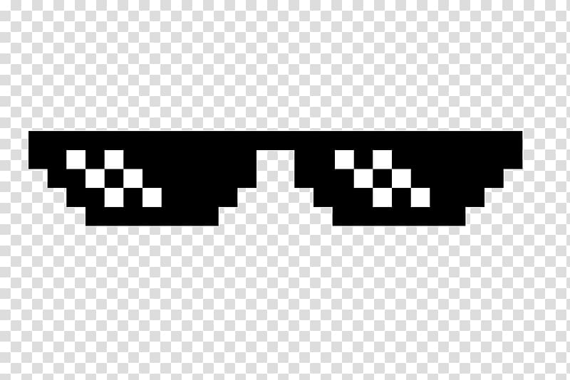 Sunglasses Thug Life , cool transparent background PNG.