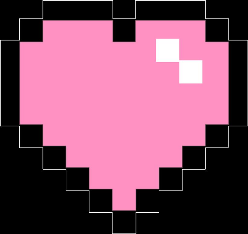 Pixel Clipart Pink Pixel Heart Png Transparent.