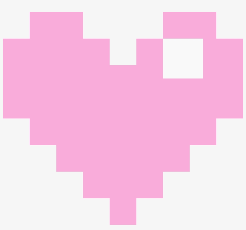 Pink Pixel Heart Png.