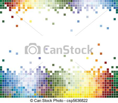 Vector Illustration of Color Pixels Abstract background.