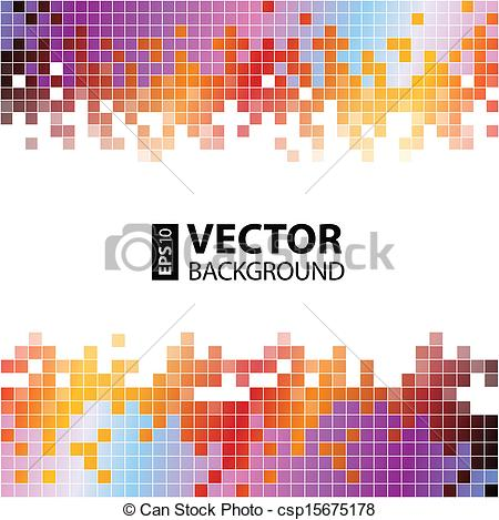 Vector Clip Art of Abstract digital background with colorful.