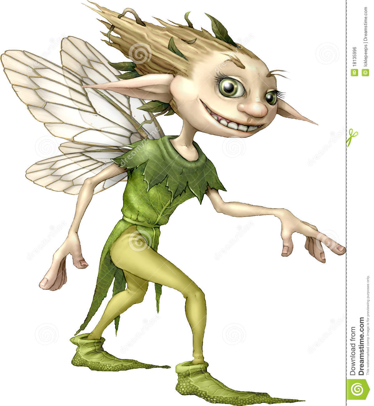 Woodland Pixie Royalty Free Stock Image.