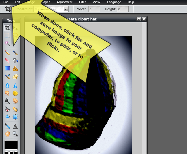 How to create your own clip art with Pixlr.