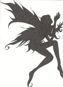 Pixie Black Clip Art.