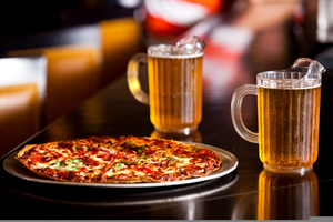 Pizza And Beer Clipart.