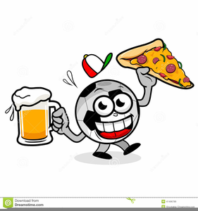 Pizza Beer Clipart.