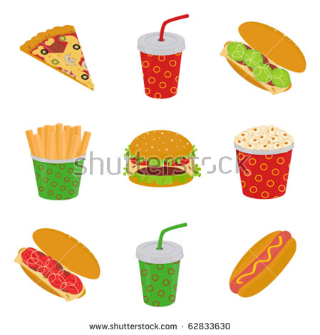 Hamburger And Fries Stock Vectors, Images & Vector Art.