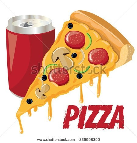 Pizza and Soda Clip Art.