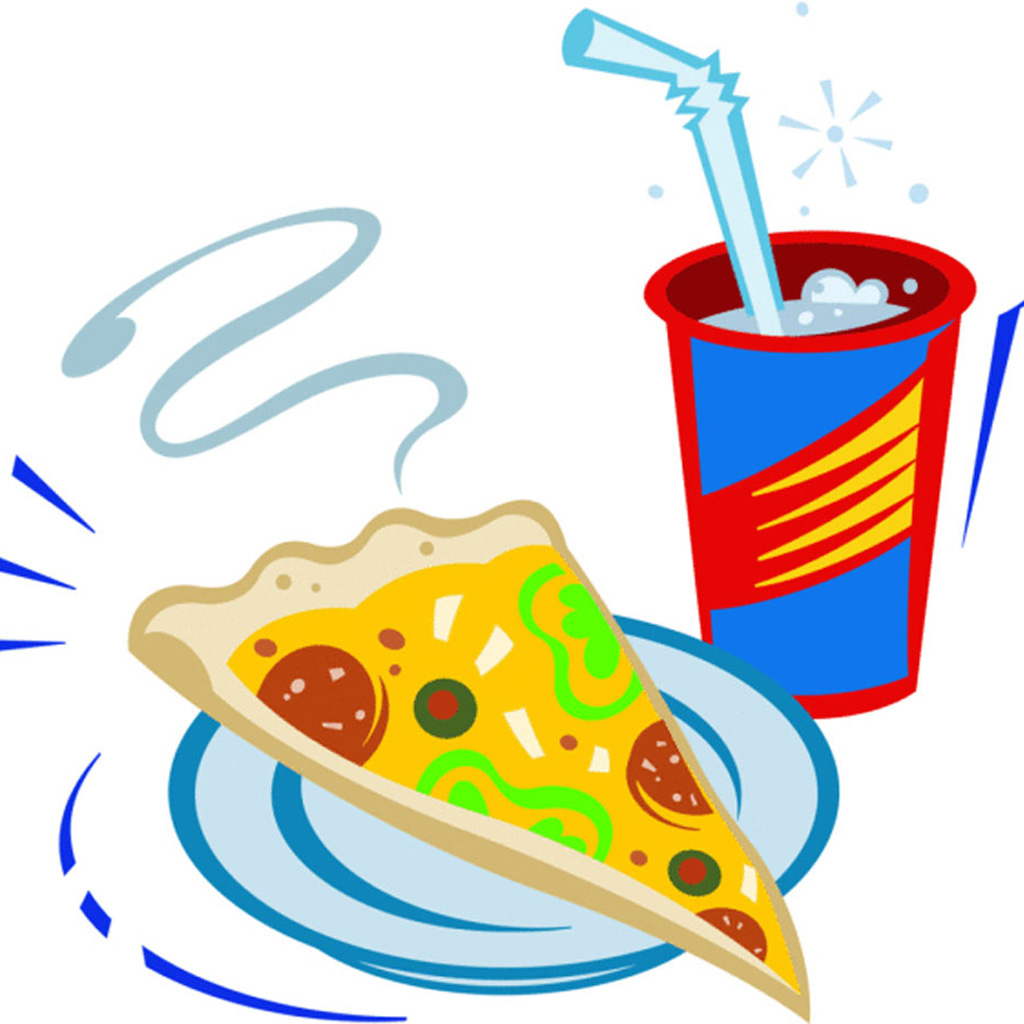 Pizza And Drink Clipart.