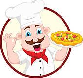 Pizza Character Clip Art.
