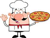 Pizza chef Clip Art Royalty Free. 2,656 pizza chef clipart vector.
