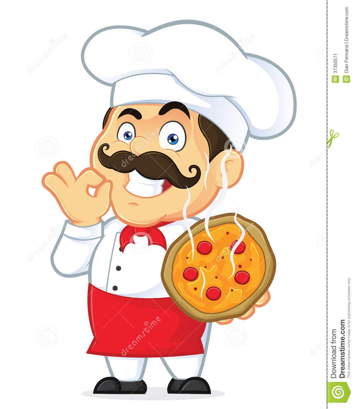 Pizza Chef Stock Image.