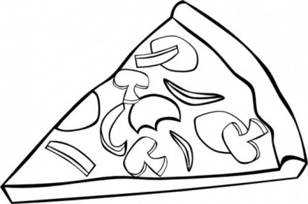 Best Pizza Clipart Black And White #6386.