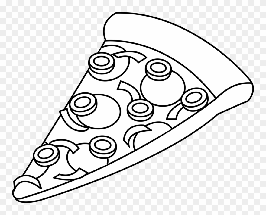 Pizza Clipart Black And White.