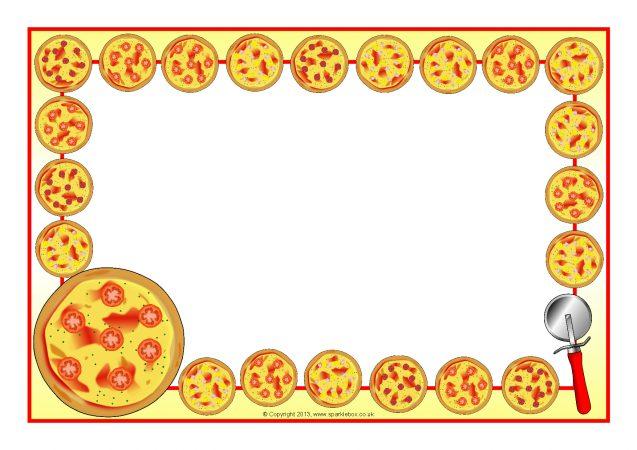 Pizza A4 Page Borders (SB9446).