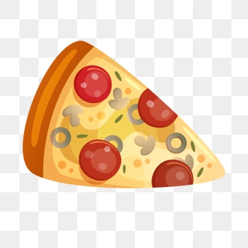 Cartoon Pizza PNG Images.