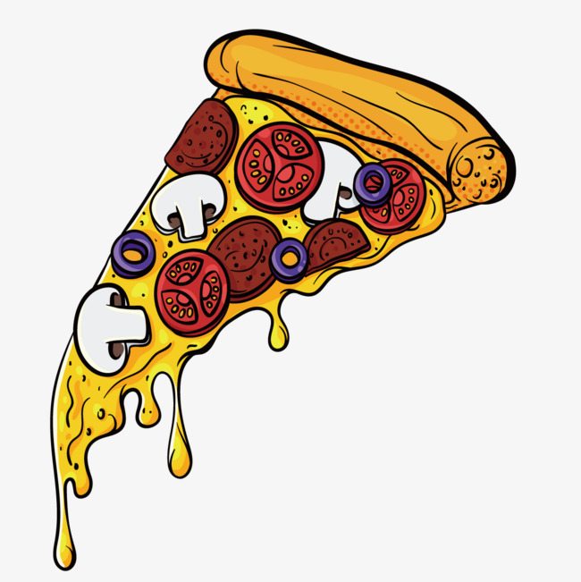 Cartoon Pizza Png (+).