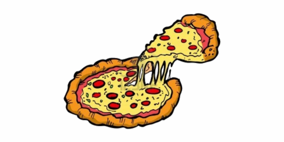 Transparent Pizza Cartoon.