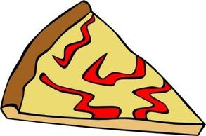 Slice of cheese pizza clipart.