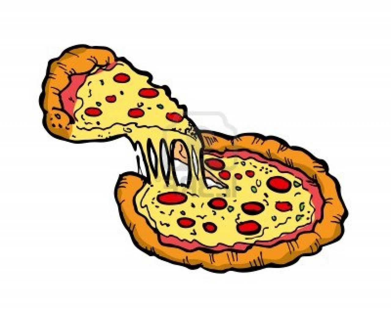 Pizza And Soda Clipart.
