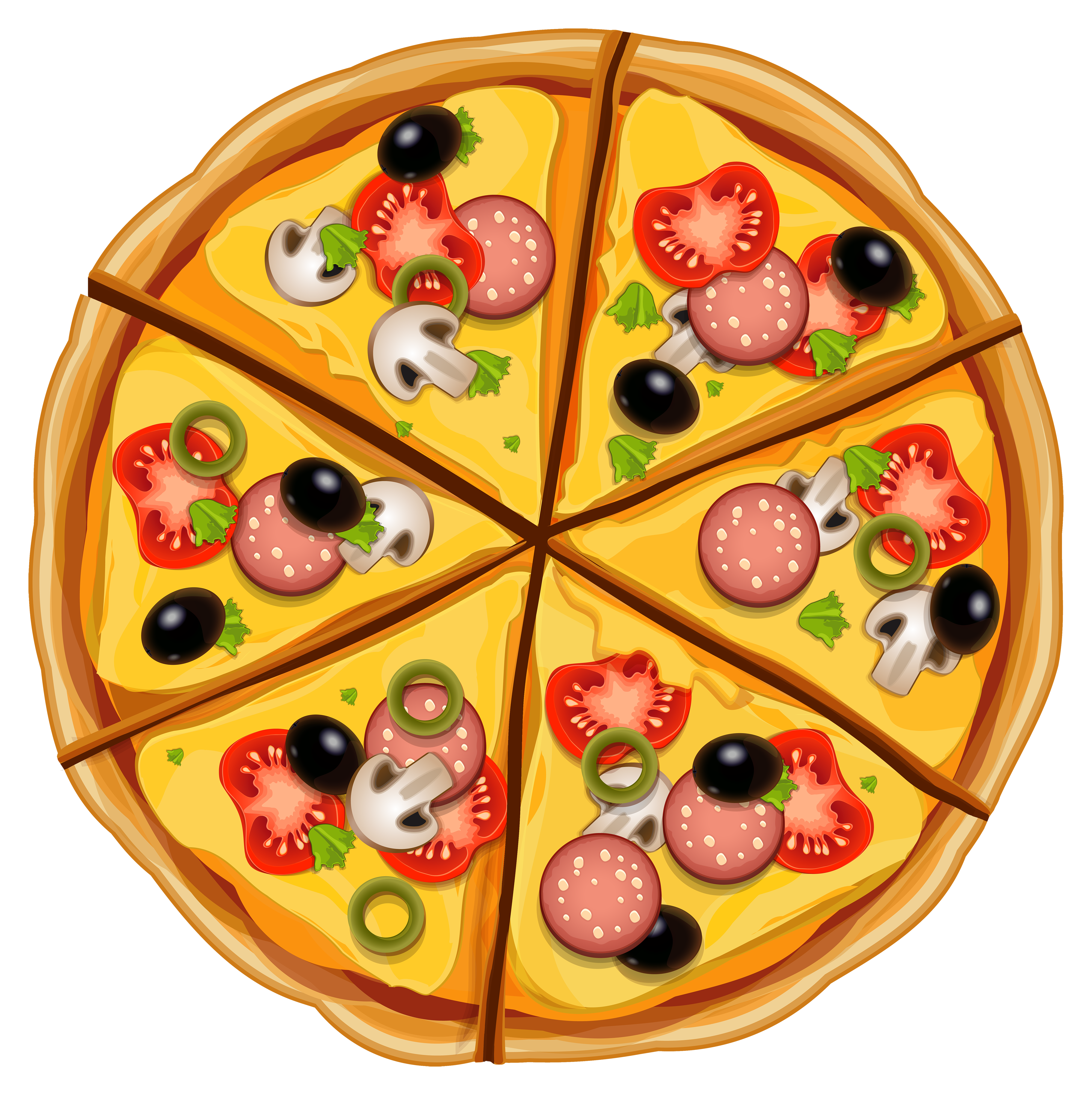 Open Pizza Box Clip Art.
