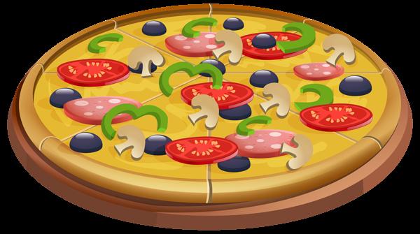 Pizza clip art image.