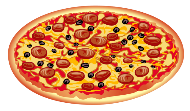 Pepperoni Pizza PNG File.PNG.