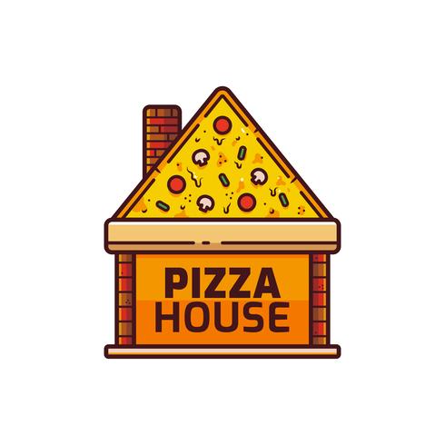 Pizza Logo Vector.