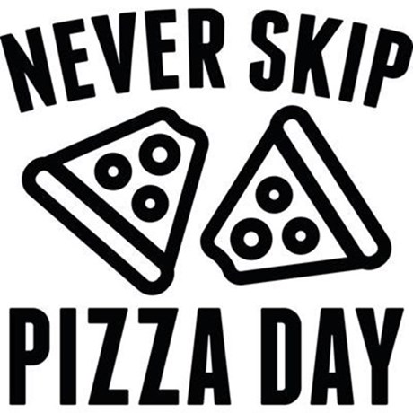 Never Skip Pizza Day 5'x7'Area Rug by VectorPlanet.