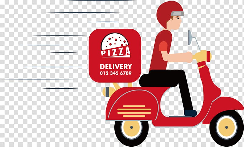 Pizza delivery illustration, Take.