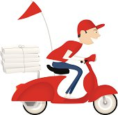 Pizza Delivery Guy Clip Art, Vector Pizza Delivery Guy.