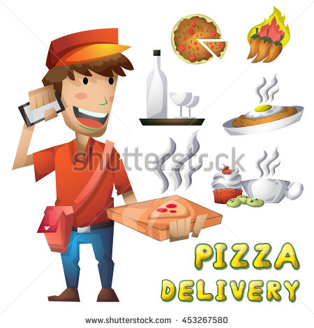 Pizza Delivery Man Stock Images, Royalty.