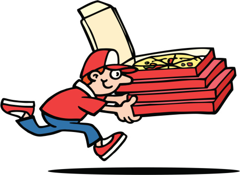 Pizza Delivery Clip Art, Vector Images & Illustrations.