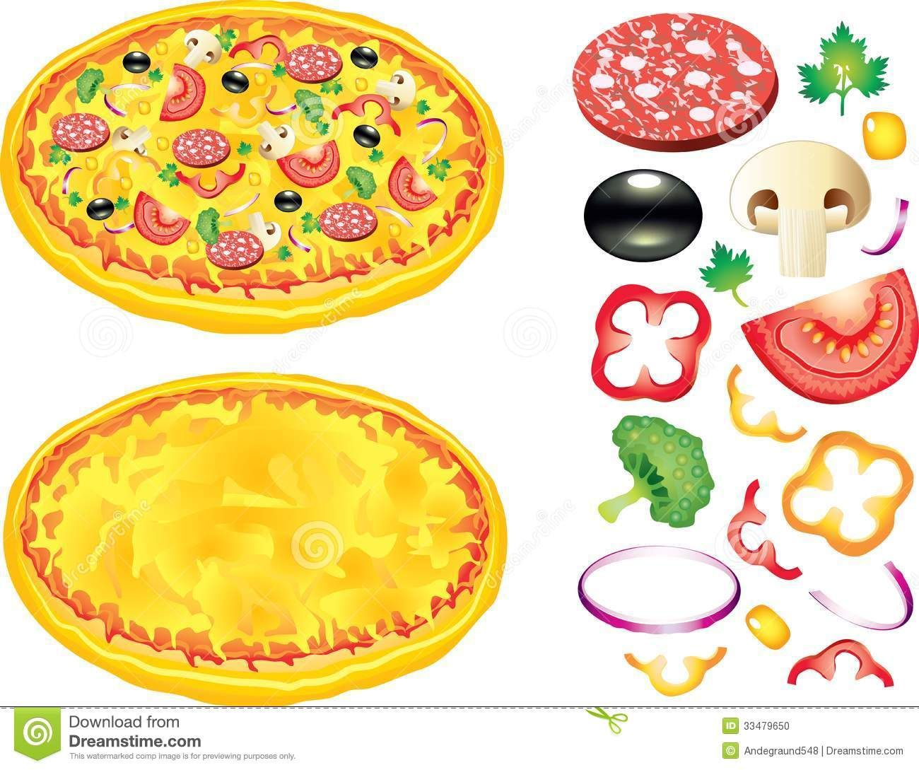 Pizza Toppings Clip Art Free.