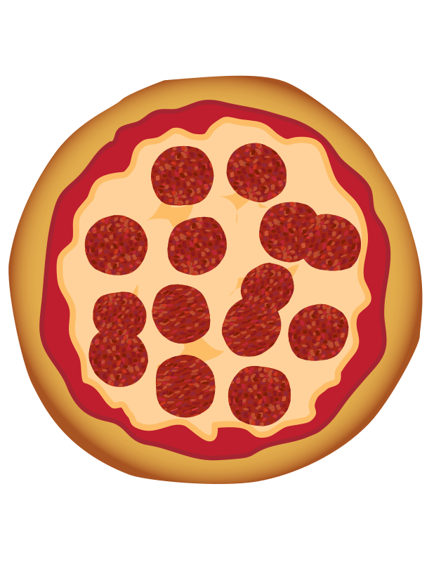 Free Clipart: Pepperoni Pizza.